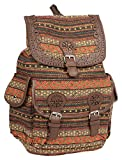 #5: Backpack for girls college bags jute textured(Multi-Coloured, 372)