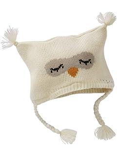 717d63a5603 VERTBAUDET Ensemble bonnet + moufles + tour de cou chouette bébé fille  IVOIRE 12 18M