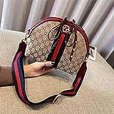 WOAIRAN Weibliche Umhängetasche Damenmode Vintage Messenger Bags Damen Einfache Freizeit Breiten Schultergurt Shell Bag Crossbody Tasche Rot