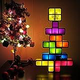 QIZIANG DIY Tetris Puzzle Neuheit LED Nachtlicht stapelbar LED Schreibtisch Tischlampe Kinder Spielzeug Hot