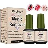 Magic Gel Remover, Removedor de Gel de Uñas, Quita Esmalte de gel y Capa Superior en 3-5 minutos,Hace Uñas más Limpias y Bril
