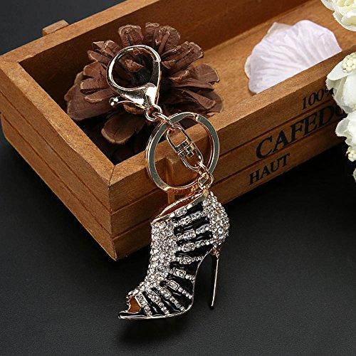 mikolot M Schuh High Heel Charm Anhänger Kristall Handtasche Schlüsselanhänger Frauen Schmuck Schwarz  (2-licht-anhänger Kristall)