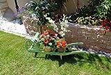 Offene Holz-Schubkarre, Gartendeko Karre zum Bepflanzen, Blumentöpfe, Pflanzkübel, Pflanzkasten, Blumenkasten, Pflanzhilfe, Pflanzcontainer, Pflanztröge, Pflanzschale, Schubkarren 100 cm HSOF-100-MOOSGRÜN Blumentopf, Holz, moosgrün grün amazon natur Pflanzgefäß, Pflanztöpfe Pflanzkübel