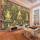 Fototapete Dekor Wallpaper Ein Großes Wandbild Fernseher Sofa Im Wohnzimmer Promo Wände Tibetischen Stil Fat Tong Tang Card Iii, Der Buddha Figur