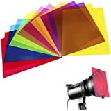 14 Pack Colored Overlays Transparency Color Film Plastic Sheets Correction Gel Light Filter Sheet, 8.5 by 11 Inch,7…