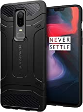 KAPAVER® OnePlus 6 Case Premium Tough Rugged Solid Black Shock Proof Slim Armor Back Cover Case for One Plus 6 (Rugged) (Rugged)