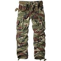 TRGPSG Pantaloni Cargo da Donna Casual in Cotone, Pantaloni mimetici da Trekking e Combattimento all'aperto, Pantaloni…