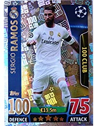 Topps Champions League Match Attax 15/16 Sergio Ramos 100 Hundred Club 2015/2016 Trading Card - preisvergleich