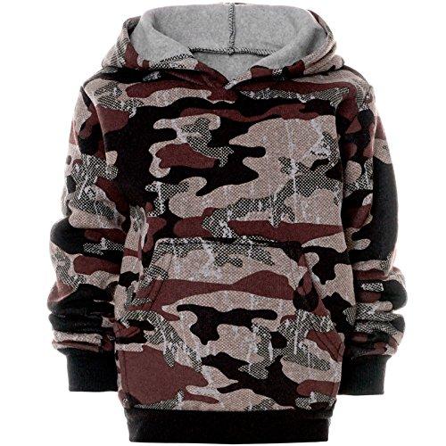BEZLIT Jungen Camouflage Hoodie Kapuzenpullover Pullover 21612, Farbe:Braun, Größe:116 (Braun Kinder Hoodie)