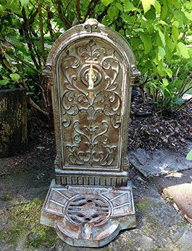 Antikas - Standbrunnen im Landhausstil wie antik, Brunnen, Gartenbrunnen mit Wasserhahn