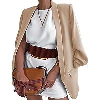Chollius Giacca Business Donna Cappotto Donna Manica Lunga Blazer Donna Autunnale/Primaverile Cardigan Lavorato Giacca…