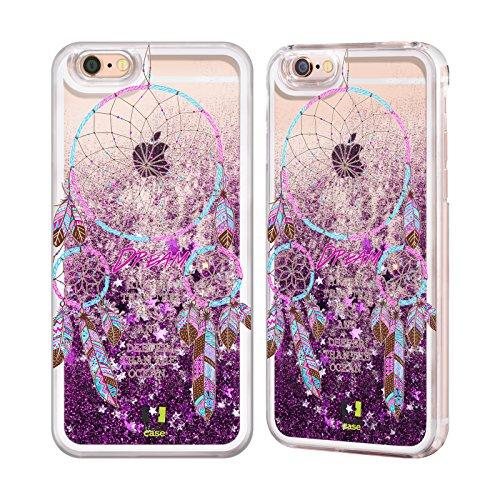 Head Case Designs Rêve Plus Haut Attrape- Rêves Étui Coque Liquide Scintillez Pourpre pour Apple iPhone 6 / 6s Rêve Plus Haut