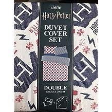 Harry Potter diseño de Navidad estilo doble juego de funda nórdica con funda de almohada por