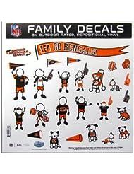 NFL Cincinnati Bengals Large Family Decal Set by Siskiyou