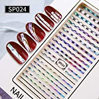 Holographic Laser Nails Transfer Stickers Mix Pattern Manicure DIY Nail Art Decorations Decals DIY Lace Laser Holo Nail Art Transfer Sticke Holographic Sticker Manicure Decoration