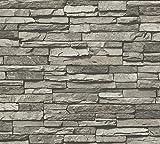 A.S. Création Vliestapete Dekora Natur Tapete in Naturstein Optik 10,05 m x 0,53 m creme grau schwarz Made in Germany 958331 95833-1