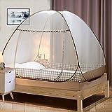 Digead Moskitonetz Bett , Faltbares Bett-Moskitonetz , Tragbares Reise-moskitonetz , Einzeltür-Moskito-Campingvorhang…