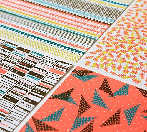 supercraft Musterpapier Neon, Set 40 Bogen, DIN A4