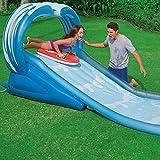 Generic.. Duty blau W Kinder Heavy Duty Rens Folie Klettern VY Rahmen Sommer Ame S Blau gewellt Sum Fun Wasserrutsche Fun Wate..