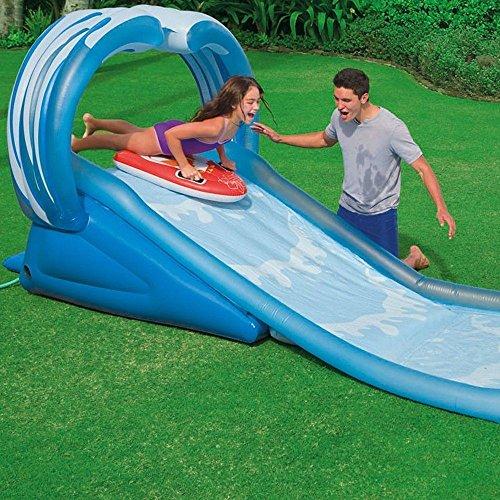 Preisvergleich Produktbild Generic.. Climb Slide Klettern Rens ER blau gewellt Ame Rahmen Summer Fun Wasser SL Kinder Heavy Duty Slide Fun Wasserrutsche