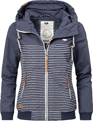 Ragwear Damen Übergangsjacke Regenjacke Nuggie Marina Blau Gr. M