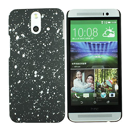Heartly Night Sky Glitter Star 3D Printed Design Retro Color Armor Hard Bumper Back Case Cover For HTC One E8 Dual Sim - Champagne Silver  available at amazon for Rs.109