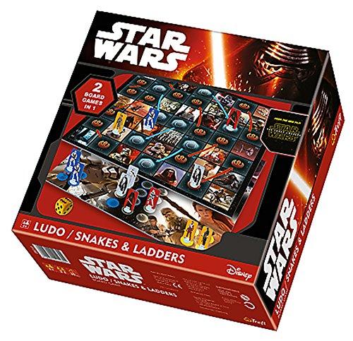 Brigamo 87310 - Star Wars 7 das Erwachen der Macht Brettspiel, 2in1 Gesellschaftsspiel Ludo + Schlangen & Leitern thumbnail
