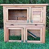 Kaninchenstall, Bunny Business doppelstöckig, ausziehbare Reinigungsschale, 4 Türen - 2