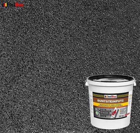 Buntsteinputz Mosaikputz BP100 (Anthrazit) 20kg Absolute ProfiQualität