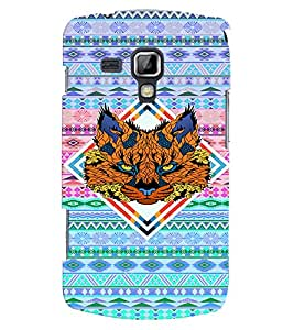PRINTVISA Abstract Tiger Case Cover for Samsung Galaxy S Duos S7562