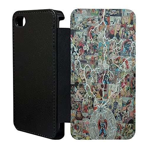 DC Marvel Comic Book Case Flip Tasche Cover für Apple iPhone 5–5S – Batman – 926 Thor - 904