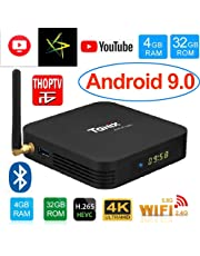 X96 Android Box Tanix TX6 4GB RAM 32GB Android Box for TV, JIO TV HotStar Netflix YouTube Miracast & More, 2.4G/5GHz Dual WiFi BT Smart Android TV Box 4K