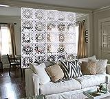 Kernorv Raumteiler Paravent Weiß DIY Paravants Raumtrenner Umweltfreundlichem PVC Holz-Plastik Trennwand Home Dekoration für Wohnzimmer, Schlafzimmer, Küche, Esszimmer - 12 PCS (Elegant)
