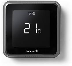Honeywell T6 Wi-Fi Raumthermostat und verdrahtete Empfängerbox, Wandmontage, 1 Stück, Schwarz, Y6R910WF6042