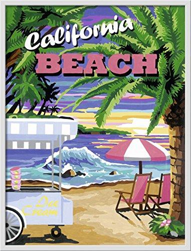 Ravensburger 28887 - Dipingere con i numeri, soggetto: California Beach, 30 x 40 cm