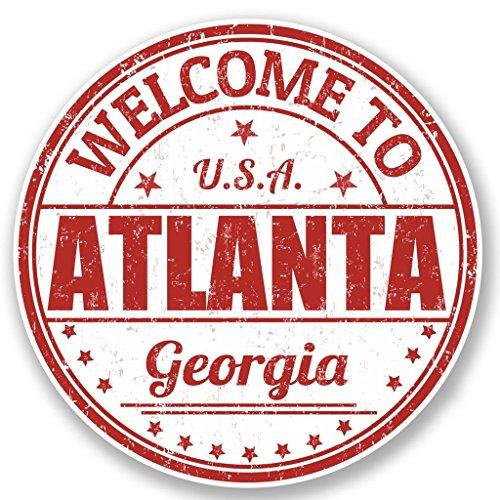 2 x 25cm/250mm Atlanta USA Fenster kleben Aufkleber Auto Van Wohnmobil Glas #5211