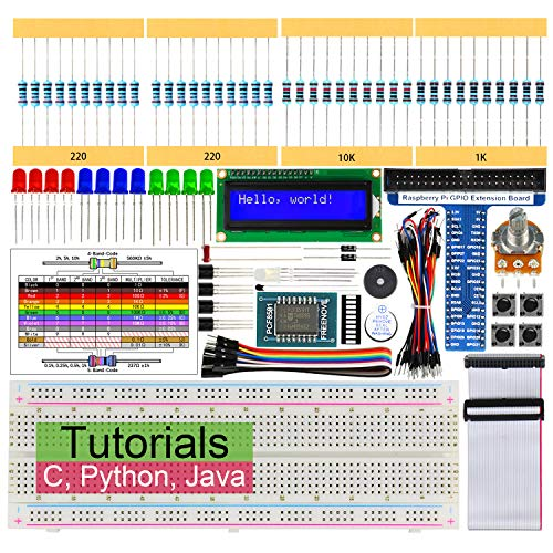 Freenove LCD 1602 Starter Kit for Raspberry Pi 3 B+, 209 Pages Detailed Tutorials, Python C Java, 151 Items, 28 Projects, RPi 3B+ 3B 3A+ 2B 1B+ 1A+ Zero W (Python-starter-kit)