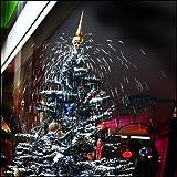 Weihnachtsbaum mit Schneefall, Schnee, LED Lichterkette, Musik - in grün ca. 2 Meter hoch