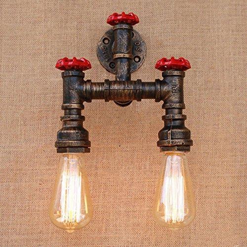 Retro-dampf-bügeleisen (KYDJ Dampf Loft industrielle Rusty Sanitär Vintage Wandleuchte Vintage E27 LED Wandleuchte Wandleuchte für Wohnzimmer Schlafzimmer Bar)