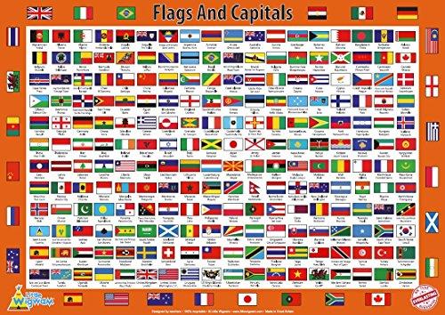 little-wigwam-poster-educatif-60x42-cm-drapeaux-et-capitales-anglais