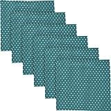 REDBEST Serviette, Stoffserviette Punkte 6er- Pack, 100% Baumwolle Petrol Größe 50x50 cm - Robustes, glattes Gewebe, mit Kuvertsaum (weitere Farben)