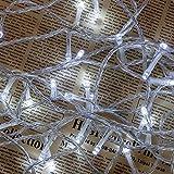 Lichterkette WISD Batteriebetriebene 41.5M 400 LED Wasserdicht Christmas Lichterkette, Innen- und Außen Deko Glühbirne, Weihnachtsbeleuchtung für Zimmer Bett / Weihnachten / Halloween / Hochzeit / Party / Weihnachtsbaum - Weiß
