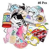 Hoiny Hoiny Aufkleber 46 Stücke Graffiti Sticker Decals, Wasserdicht Vinyl Sticker Set für Reisekoffer,Auto, Skateboard, Motorräder, Fahrräder, Skatboard, Laptop und auf Glatte Oberflächen