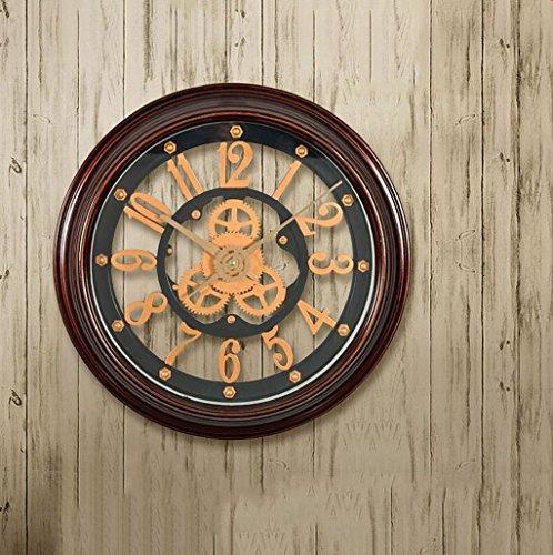 Kleine Wanduhr Einfache (Industrielle Wanduhr, industrielle Wecker Wanduhren Wohnzimmer große Wanduhr retro modern Moderne, einfache clock Wanduhr (Farbe: A, Größe: Klein Größe 60 * 60 cm))