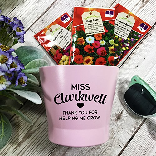 Teacher Personalised Flower Pot and Sets Gift Set Thank You for Helping Me Grow