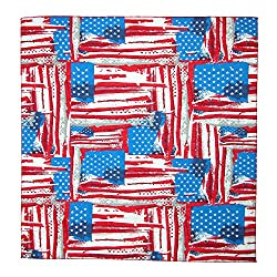CTM Abstract American Flag Print Bandana from CTM