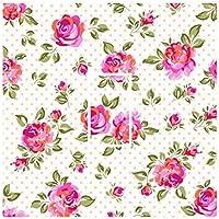 Sticar Ltd-it, colore: crema a pois, motivo floreale, stile Shabby Chic, con interruttore-skin adesiva in vinile con decalcomania, per qualsiasi stanza