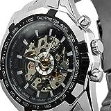 ESS - Herrenuhr - Automatik Uhr - Skelett - Edelstahl Armbanduhr - WM257