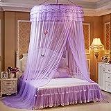 Moskitonetz Bett Prinzessin von Rondell Himmel, vollständige Deckung, Tränke von Insektenstichen purpur