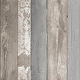 vtwonen Papier Peint intissé Bois Naturel Marron 10m x 52cm Planches de Bois